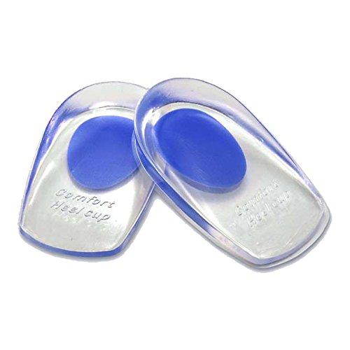 RotSale® 1 Paar Gel Blau Heel Cup Pad Fußpflege Fersensporn Fersen Cup Schuhkissen für Herren