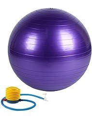 Antipinchazos y Slip Resistant–Balón de fitness (incluye bomba, morado, 55 cm