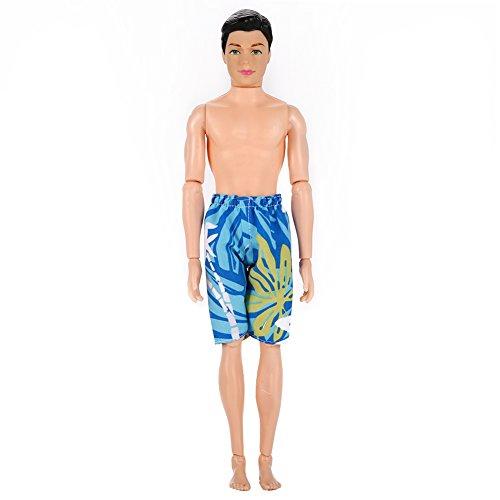 Zantec Puppe Kleidung Sommer Shorts Casual Printing Beach Shorts für Barbie's Boyfriend Ken (Kostüme Video Prinzessin Spiel)