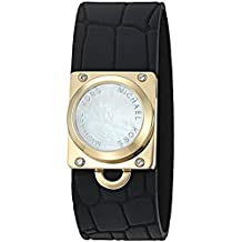 "Michael Kors""Access Activity Tracker"" Reade Croco Embossed Silicone Black Bracelet - MKA101007"