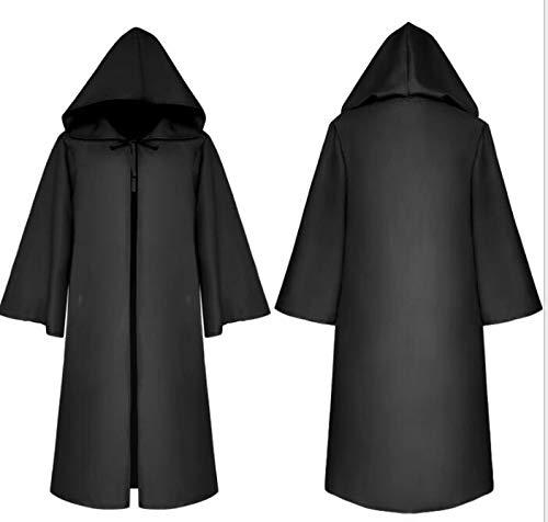 Wizard Devil Es Cloak Robe Ritter Gothic Fancy Kleid up Halloween Masquerade Cosplay Kostüm Cape,Black