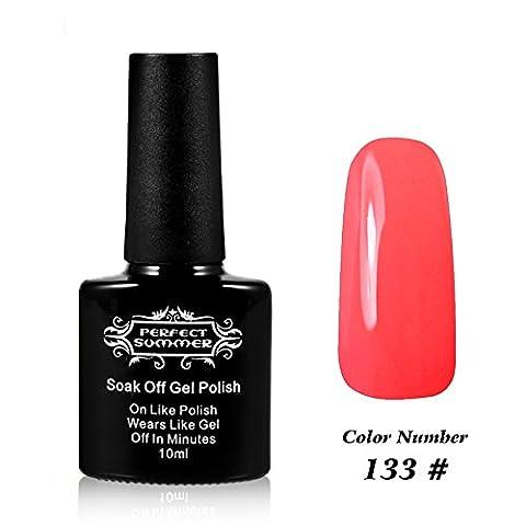Perfect Summer Shellac GelNagellack UV/ LED 10ml Farben Nagellack Franzoesisch Manikuere Kunst traenken weg #133