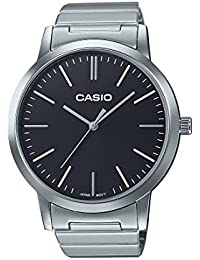 Reloj cuarzo Casio Para Mujer Con  Negro Analogico Y Plata acero inoxidable LTP-E118D-1AEF