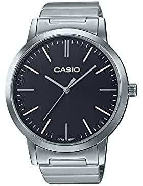 Casio Collection – Unisex-Armbanduhr mit Analog-Display und Edelstahlarmband – LTP-E118D-1AEF