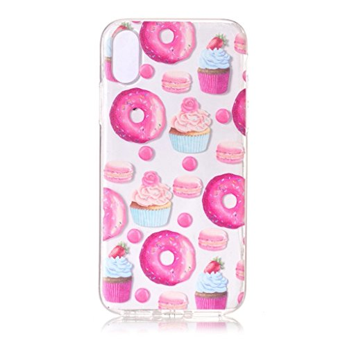 Custodia Cover Per Apple iPhone X , WenJie Fiori di farfalla Trasparente Silicone Sottile Back Case Molle di TPU Trasparente per Apple iPhone X XY19