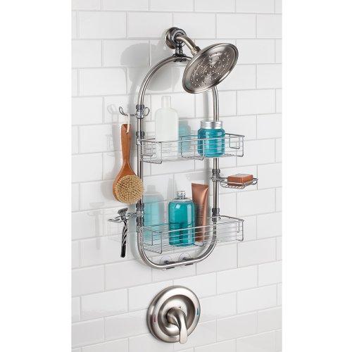 Interdesign forma organizador para ducha acero for Organizador para ducha