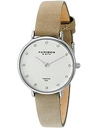 Akribos XXIV Reloj de Pantalla analógica cuarzo blanco para mujer