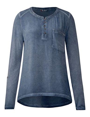 Street One Damen Langarmshirt Blau (Night Blue 10109)