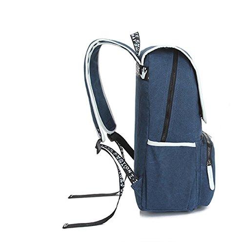 Keshi Neu Faschion Rucksäcke Damen Mädchen Schüler Lässige Canvas Rucksack Vintage Backpack Daypack Schulranzen Schulrucksack Wanderrucksack Schultasche Rucksack für Freizeit Outdoor Sport Leinwand Schwarz