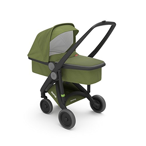 COCHECITO UPP CARRYCOT CHASSIS NEGRO KIT NACELLE OLIVE GREENTOM