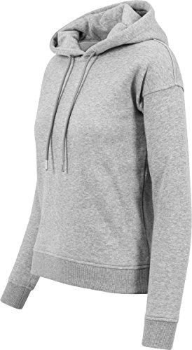 Urban Classics Damen Kapuzenpullover Ladies Hoody Grau (grey 111)