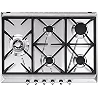 Smeg SE775GH5 hobs - Placa (Incorporado, Gas, Acero inoxidable, Giratorio, Frente, 68.5 cm)