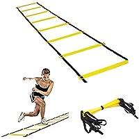 Lypumso 6M Scala Agilità Scaletta, Durevole 12-rung Soccer Training Speed Ladder per Allenamento / Calcio / Esercizio Velocità / Fitness, con Borsa Portatile Regolabile (Per interni ed esterni)