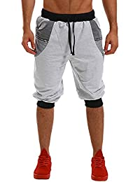 MODCHOK Homme Shorts Bermuda Pantacourt Jogging Sport Poches Casual Taille  Élastique b2a5c99d96e