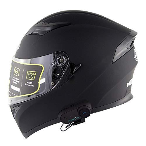 NAN® Modular Motorrad-Sturzhelm Bluetooth Flip Bluetooth Travel Helm Motorradhelm-Gegensprechanlage Bluetooth Helm Intercom Bluetooth ECE Standard-Definition,Xl