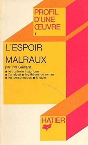 L'espoir, Malraux : Analyse critique