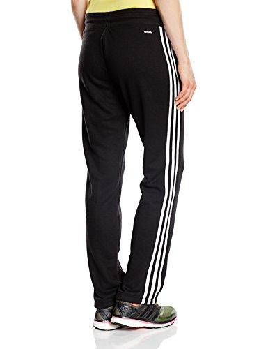 Adidas, Leopard Supergirl - Pantaloni sportivi da donna 3S, Grigio (Light Grey Heather/Flash Orange), XXS Nero - nero / bianco