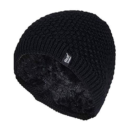 HEAT HOLDERS - Damen Winter Warm Strick Beanie/Mütze mit Fleecefutter (One Size, Black (Nora))