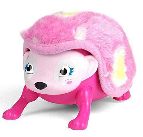 SLONG-Cute Hedgehog, Plush Toy, Children ' S Electronic Interactive Pet, Touch Sensor, Rolling, Crawling, Sound and Light, Best Gift for Boys and Girls