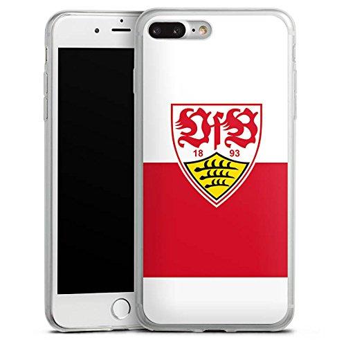 Apple iPhone 8 Slim Case Silikon Hülle Schutzhülle VfB Stuttgart Fanartikel Fußball Silikon Slim Case transparent