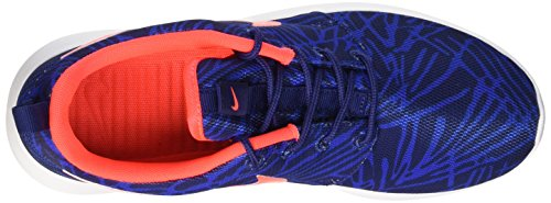Nike Wmns Roshe One Print, Baskets Basses Femme, Bleu Blau (464 LYL BL/BRGHT CRMSN-GM RYL-WHT)
