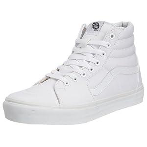 Vans SK8-HI, Unisex-Erwachsene Hohe Sneakers, Weiß (True White W00), 44 EU