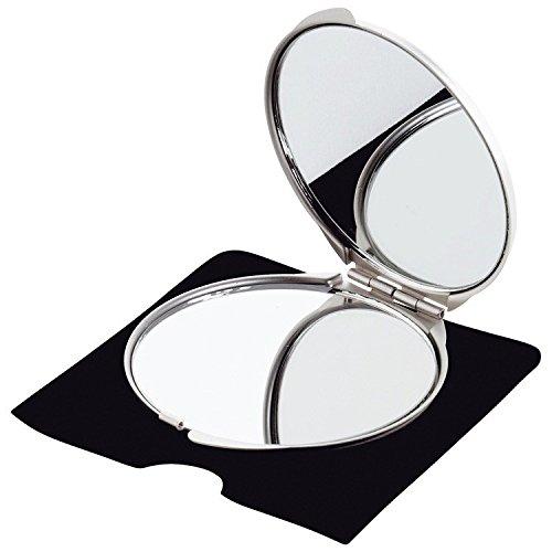 Doppelspiegel aus Metall 'Victoria' - ideal für Reisen oder die Handtasche