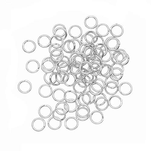 Meclelin Damen Klein Creolen Ohrringe Set 100 STÜCKE 4mm Offene Biegeringe DIY Schmuck