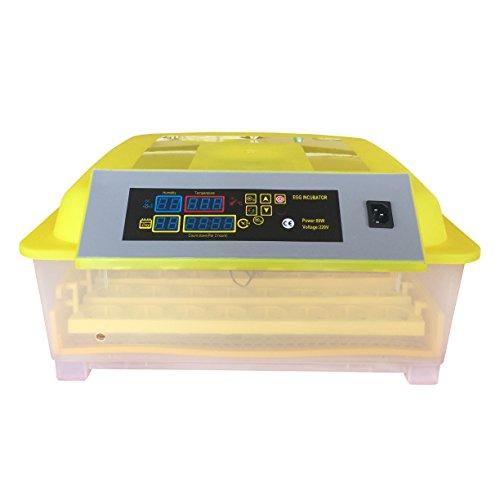 HopeU5® Incubadora automática 48 Huevos Pollo Pato Ganso Codornices Digital Incubadora Del Huevo Volteo Automatico Con Control De Temperatura (220V)