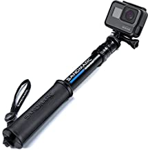 SANDMARC Pole - Compact Edition: 25-64 cm Palo Extensible (Selfie Stick) for GoPro Hero 6, Hero 5, 4, 3+, 3, 2, y HD