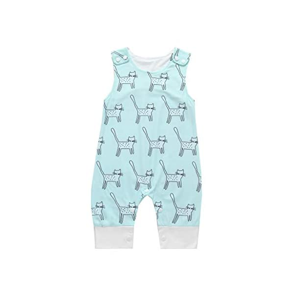 MAYOGO Body bebé Niño Verano Caricatura Bebé Monos sin Manga Mameluco Niño Pelele Recién Nacido bebé Pijama Bodies Bebe… 5
