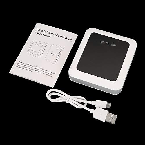 Beweglicher Energie-Bank-drahtloser Fräser 100Mbps 3G / 4G LTE beweglicher WiFi Hotsport SIM Karten-Spielraum WiFi Fräser - Weiß 3g-batterie-bank