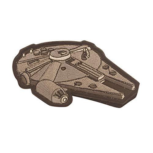 Cobra Tactical Solutions Military Besticktes Patch Millennium Falcon mit Klettverschluss für Airsoft/Paintball für Taktische - Swat Sniper Kostüm