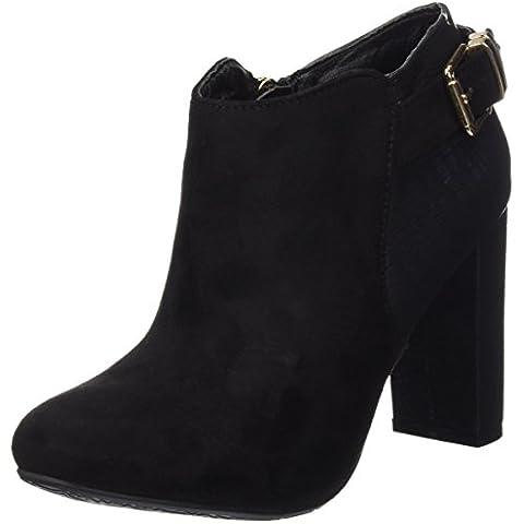 Xti Botin Sra. Antelina Combinada 30295, Zapatos De Tacón, Mujer