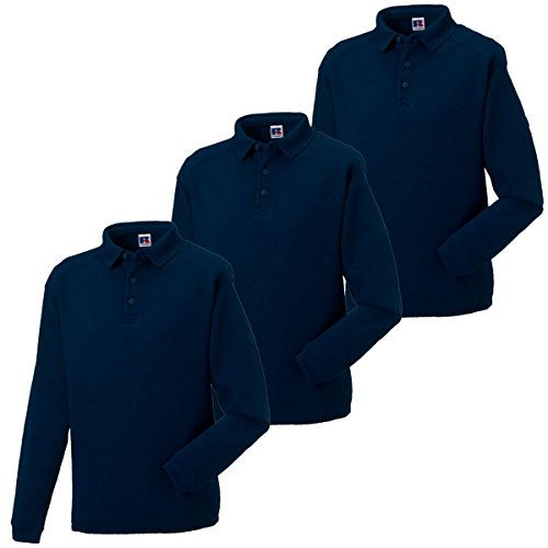 Russell Athletic Herren Sweatshirt, Kein Muster * Navy - Pack of 3