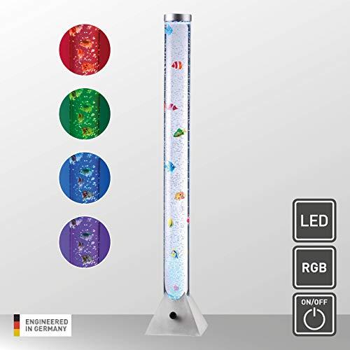 LeuchtenDirekt, H 120cm, LED Wassersäule inkl. Schnurschalter, RGB-Farbwechsel, Kinderzimmer-Leuchte, inkl. 10 Fische, Stahl