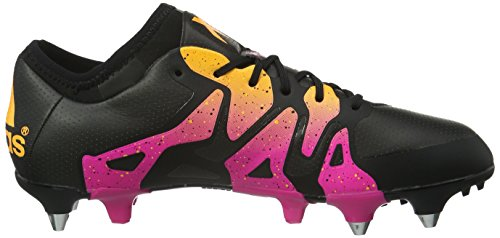 adidas Herren X 15.1 SG Fußballschuhe, Rot, 38 EU Schwarz (Core Black/Shock Pink/Solar Gold)