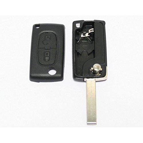 Coque de clé télécommande 2 boutons pour plip Peugeot 207 307 308 ce0536