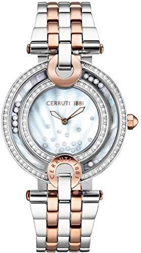 CERRUTI Femmes Analogique Quartz Montre avec Bracelet en Acier Inoxydable CRM054STR28MRT