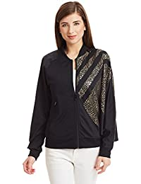 a5033644e088 adidas Originals Damen Star Trefoil TT Chinese Year Jacke Big Logo Schwarz  Gold