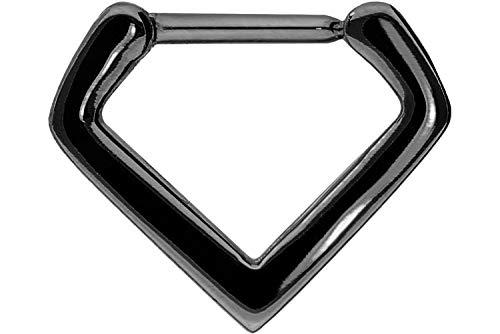 PIERCINGLINE Chirurgenstahl Clicker | V-Form | Piercing für ✔ Septum ✔ Tragus ✔ Helix u.v.m | Farbauswahl