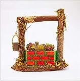 youjiu Dekorationen Windlicht Geschenke Handgearbeiteter Blumentopf Holzbrunnen Individueller Fleischiger Blumentopf