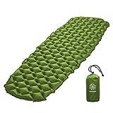 Bahidora Isomatte Camping Ultraleicht. Schlafmatte kleines Packmaß. Aufblasbare Luftmatratze. Isomatte Outdoor - ideal für Camping, Trekking und Backpacking (Grün)