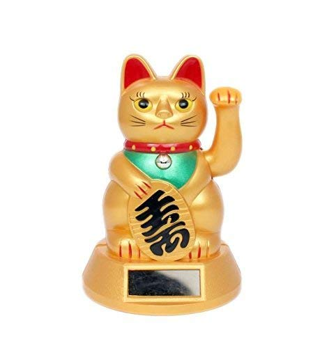 Energia solare giallo Chinese Lucky fortune Cat