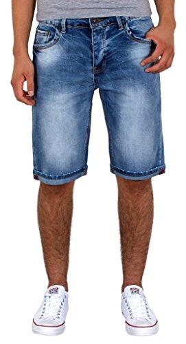 by-tex Herren Jeans Shorts Basic Jeans Shorts kurze Bermuda Shorts Used Look kurze Hose A415