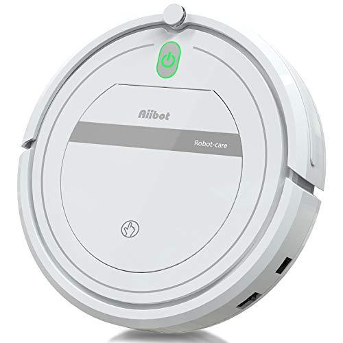 Aiibot Aspirateur Robot Slim Machine de Nettoyage à Aspiration Puissante, Efficace sur les Tapis,...