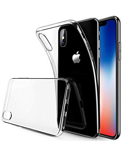DBR-DTT Cover iPhone X, Cover iPhone XS, Custodia Gel Trasparente Morbida Silicone Sottile Antiurto Resistente TPU [Ultra Leggera e Chiaro] per Apple iPhone XS/X da 5.8 Pollici.