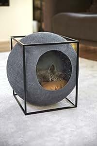meyou paris le cube gris fonce couchage panier arbre chat lit abri griffoir cocon. Black Bedroom Furniture Sets. Home Design Ideas