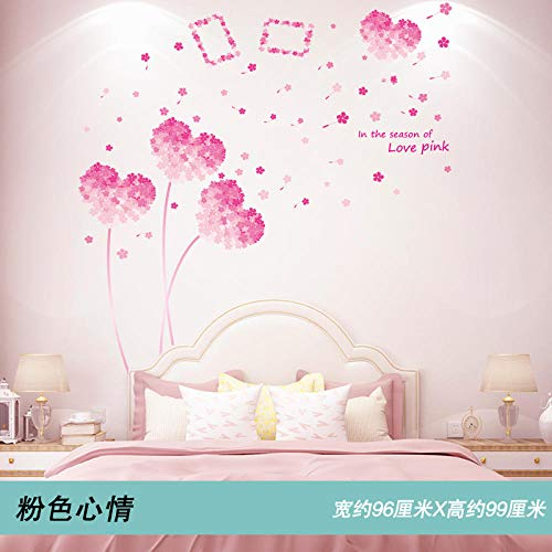 3D Stereo Schlafzimmer Wandaufkleber Wanddekoration Aufkleber Warme Wandaufkleber Home Dress Up Hintergrund Wand Selbstklebende Tapete Rosa Stimmung (Cartoon Up Dress Ideen)