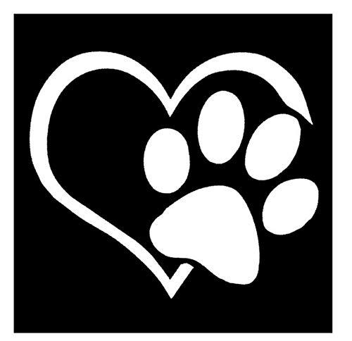 10 * 9 CM Liebe Katze Hund Fußabdrücke Auto Styling Dekoration Aufkleber Aufkleber Autofenster Abdeckung Scratch Aufkleber Zubehör/3PCS (Vinyl Halloween Scratch)